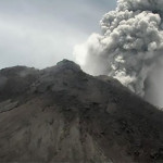Ashes from the volcano erupted as much as 5,000 meters (16,000 feet) into the atmosphere.