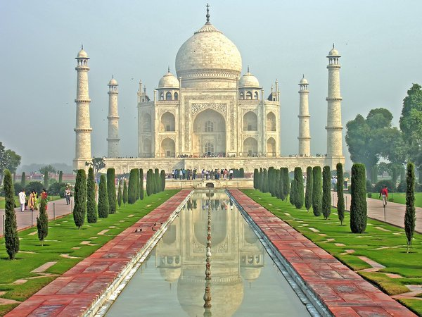 Agra's Taj Mahal was built between 1632 to 1653