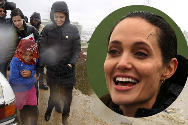 Actress Angelina Jolie Visits Refugee Camps In Greece