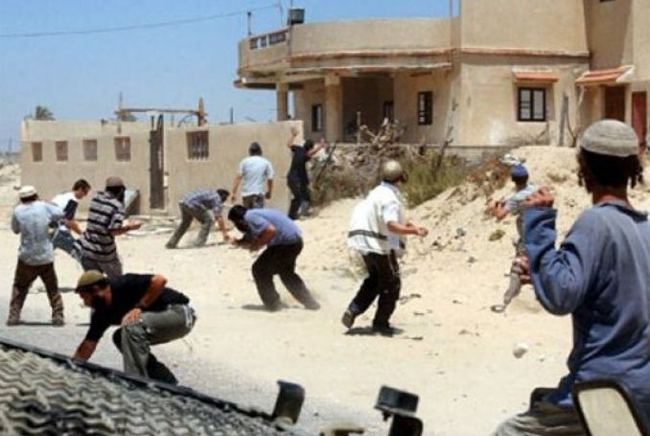 A group of Israeli settlers attacked Madama, a Palestinian village