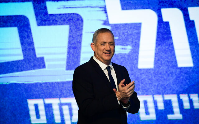 Benny Gantz, a retired Israeli opposition leader and former Army chief general