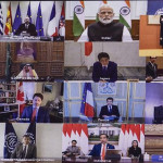 The leader did not attend the meeting but joined via video conference.