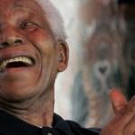 Former Africa's former and democratic president Nelson Mandela