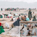 Hundreds of families forced to live under the open sky due to civil war and famine in Afghanistan