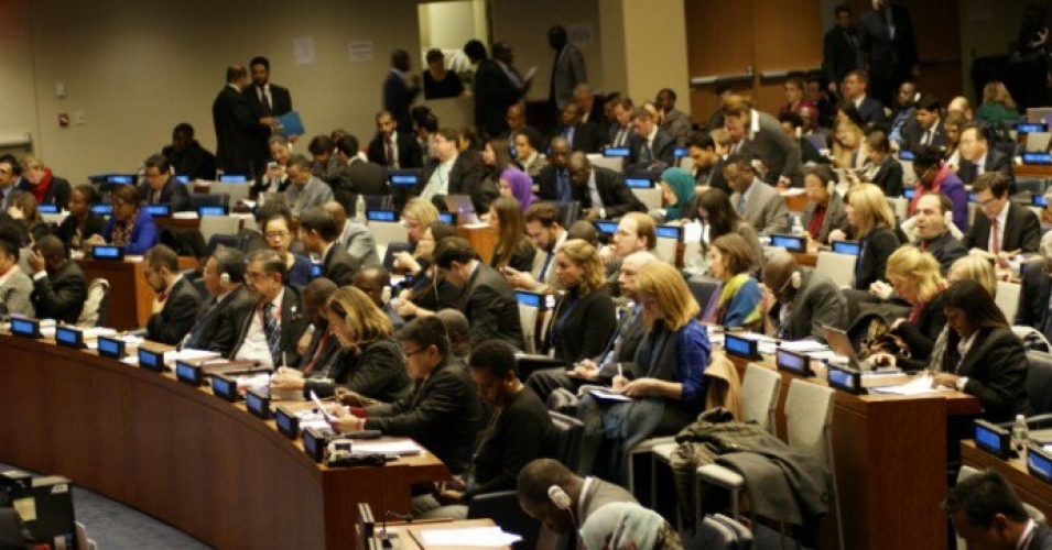 The vote on the resolution in the UN General Assembly, 123 countries voted in favor, while 38 countries opposed