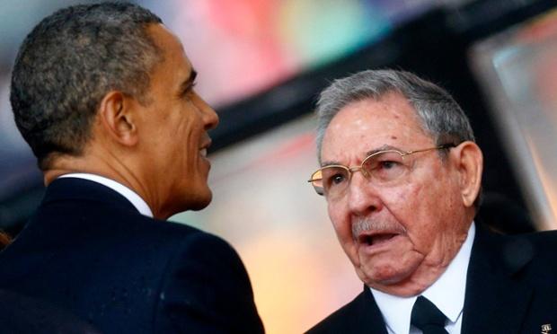 US President Barack Obama and Cuban President Raul Castro