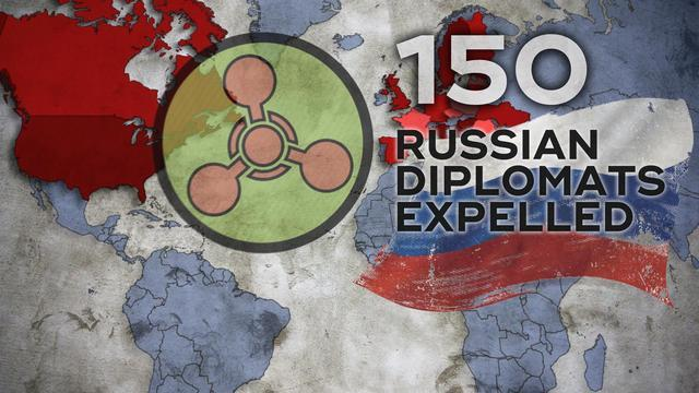 US, European countries, including the UN, have ordered 150 Russian embassies to leave the country