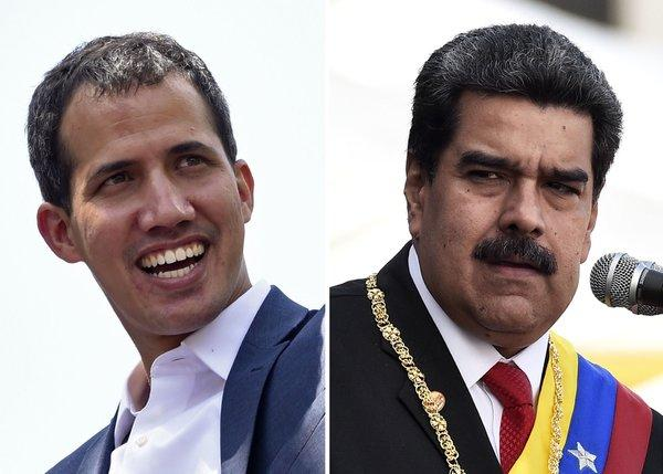 While the US supports Juan Guaidó, Russia stands with its president present with President Nicolás Maduro.