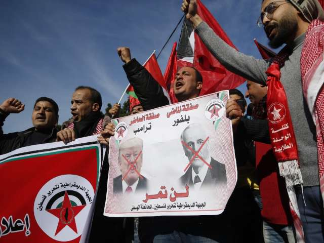 US peace plan announces expected today, Palestinian protests