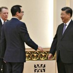 U.S. Trade Representative Robert Lighthizer, Treasury Secretary Steven Mnuchin and Chinese President Xi Jinping