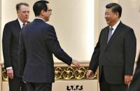 U.S. Trade Representative Robert Lighthizer, Treasury Secretary Steven Mnuchin and Chinese President Xi Jinping