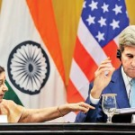 US Secretary of State John Kerry and Indian Foreign Minister Sushma Swaraj