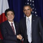 US President Barack Obama and Japanese Prime Minister Shinzo Abe