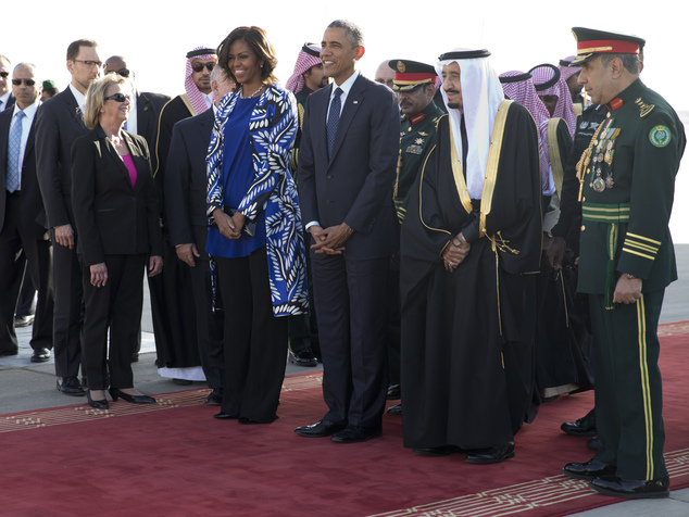 US President Barack Obama and his wife welcomed Salman bin Abdul Aziz, the Saudi king was alsau