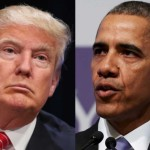 US President Barack Obama and Trump