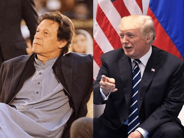 US President Trump and Prime Minister Imran Khan Pakistan