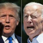 US President Donald Trump and his political rival Joe Biden