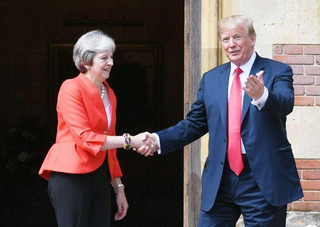 US President Donald Trump and British Prime Minister Theresa May
