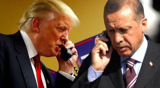 Telephone call in US President Donald Trump and Turkish President Tayyip Erdogan