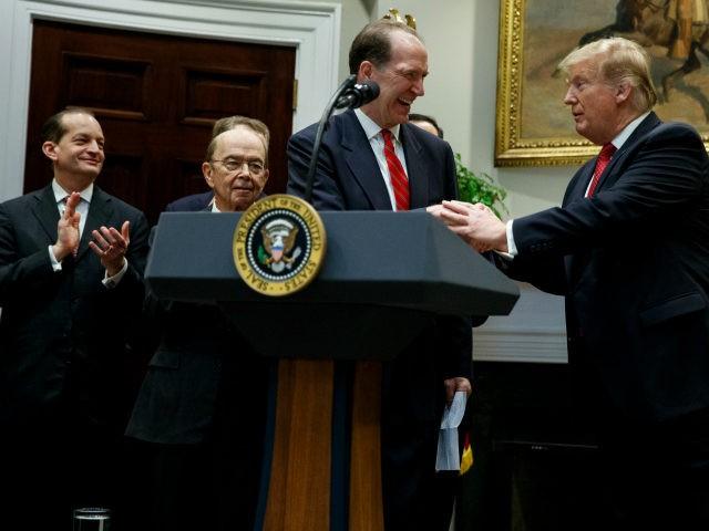 US President Donald Trump and new World Bank President David Malpass