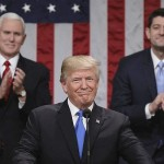 "US President Donald Trump addresses first ""State of the Union"""