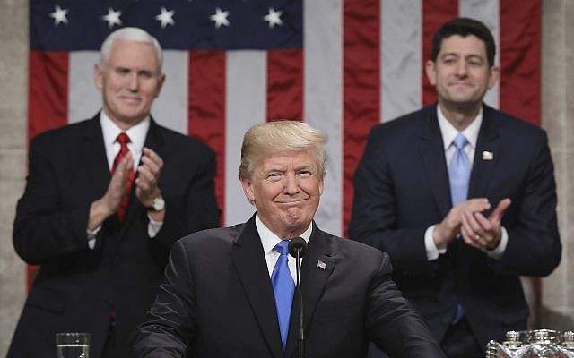 """US President Donald Trump addresses first """"State of the Union"""""""