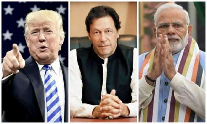 US President Donald Trump says he has talked to Narendra Modi and Imran Khan over Kashmir issue
