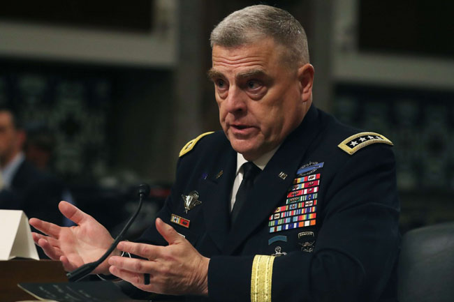 US Army Chief General Mark Milley