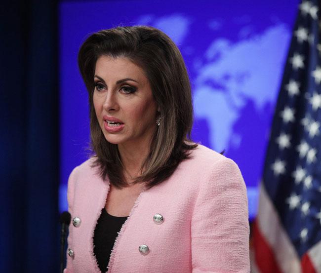 US State Department spokesman Morgan Ortagus