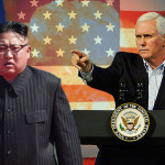 US Vice President Mike Pence and North Korea Chief Kim Jong-un