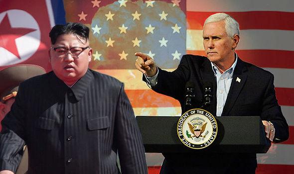 US Vice President Mike Pence and North Korea Chief Kim Jong-un