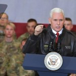 US Vice President Mike Pens arrived in Afghanistan without any advance announcement where he met the soldiers