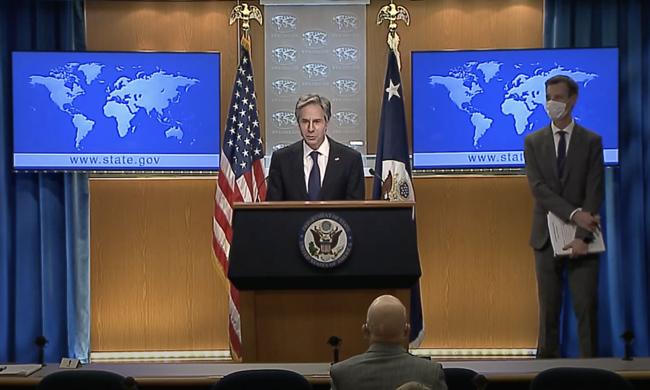 US Secretary of State Anthony Blanken