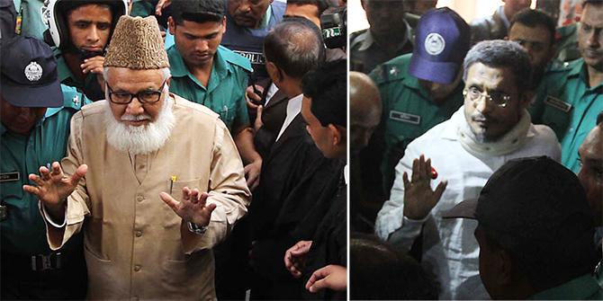 JI Ameer Motiur Rahman Nizami and former interior minister Babar Zaman fun