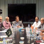 Indian Water Commissioner Mehr Ali Shah headed by the Pakistani team while the Indian delegation led by PK Saxena