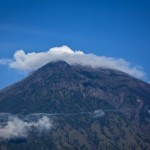 Volcano in Mount Agung 'Indonesia Bali Island
