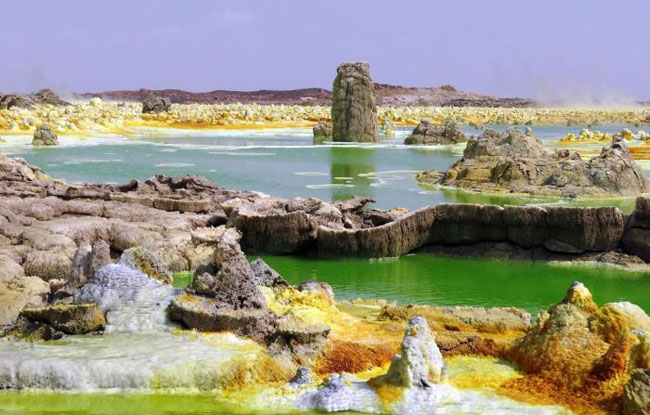 A place in Ethiopia where is no life despite the water
