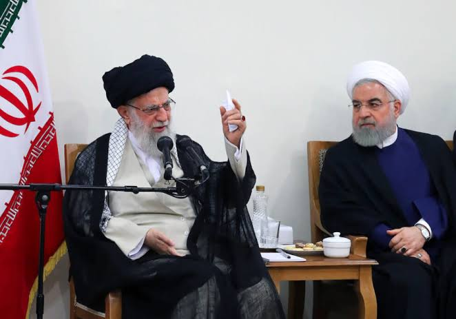Iranian President Hassan Rouhani and Supreme Leader Ayatollah Ali Khamenei