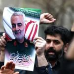 Protesters protest on the anniversary of Iranian Commander Qasim Soleimani