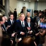 Leader of the prosecution team from the House of Representatives, Adam B. Schiff, began discussing impeachment