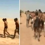 Released on the Internet by the rebels in the Syrian soldiers wearing pants can be seen in line