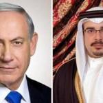 Bahrain's Crown Prince Salman bin Hamad Al Khalifa and Israeli Prime Minister Netanyahu