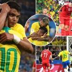 Brazil beat Serbia2-0