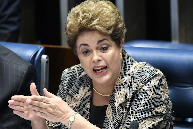 Suspended  of Brazilian President Dilma Rousseff