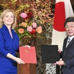 The agreement was signed by British Trade Minister Liz Truss and Japanese Foreign Minister Toshimitsu Motegi.