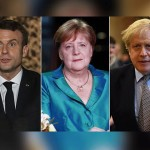 The foreign ministers of Britain, Germany and France have sharply criticized Iran