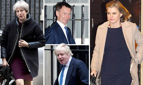Five ministers have been able to maintain their position during the change in the cabinet of UK Prime Minister Theresa May.