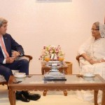 Bangladeshi Prime Minister Sheikh Hasina and US Secretary of State John Kerry