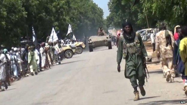 Boko Haram militants in the north-eastern Nigeria, hundreds of people taken hostage