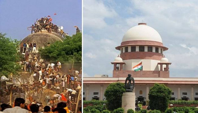 Indian Supreme Court ordered the construction of a temple in place of the Babri Masjid